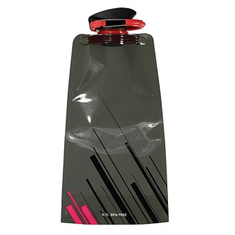Foldable Sport Water Bottle Bag Camping Outdoor 700mL Black - intl