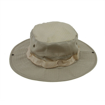Harga Women Men Outdoor Hunting Fishing Army Camo Bucket Boonie Woods Forest Cap Sun Hats Khaki
