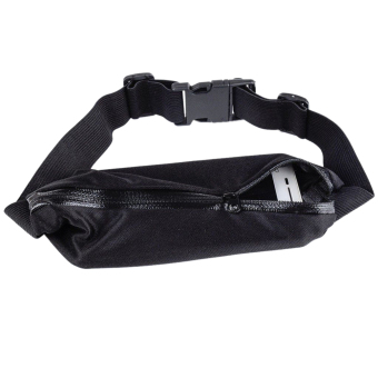 Harga Sports Hip Pack Belly Waist Bum Bags Fitness Running Jogging Cycling Belt Pouch Black