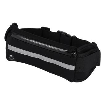 Harga Unisex Outdoor Running Traveling Cycling Waterproof Waist Pack Belt Bag (Black) - intl
