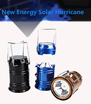 Lifine NEW 6 LED Solar/USB Rechargeable Camping Tent Lantern Fishing Light Lamp Hiking-Gold - Int'l