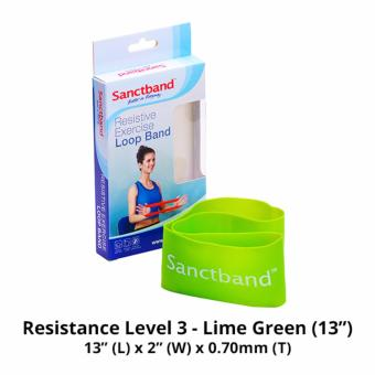 Harga Sanctband 13-inch Loop Band (Resistance Level 3 - Lime Green)