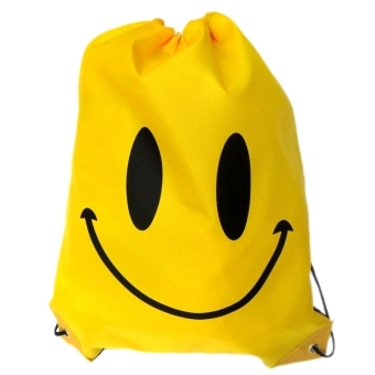 Harga Swimming Drawstring Beach Bag Sport Gym Waterproof Backpack Duffle Smile Yellow