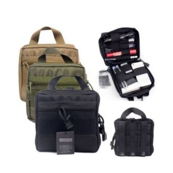 Harga Tactical First Aid Medic Kit Pouch Organizer Utility Bag Pouch Backpack Army Black Color - intl