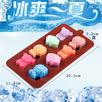 Harga New creative cartoon silicone ice cube freeze ice cream molds to make chocolate cake baking mold for household