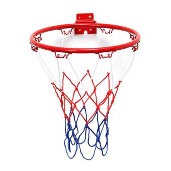 Wall Mounted Hanging Basketball Goal Hoop Rim Net Metal Sporting Goods Netting 32cm