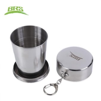 Harga BRS 60ML 140ML 250ML Aluminum Alloy Collapsible Cup (BRS - 36 140ML) (Silver) - intl