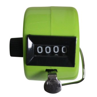 Harga Hand Held Tally Digit Mechanical Clicker Counter Green