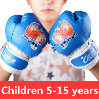 Harga Children 's Boxing Gloves Family Boxing Taekwondo Gloves Blue (22.0.4) - intl