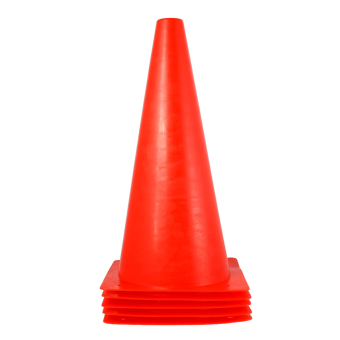 Harga BolehDeals 5pcs Sport Soccer Football Training Cone Traffic Safety Bright Cone 32cm Red - Intl