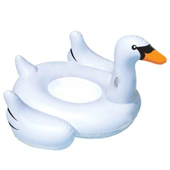 Harga Giant Inflatable Pool Float (White Swan)-180cm x 180cm x 150cm