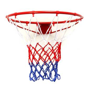 Wall Mounted Hanging Basketball Goal Hoop Rim Net Metal Sporting Goods Netting 45cm - Intl
