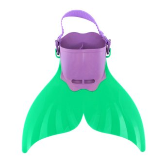 Monofin Flippers Mermaid Tails Girls Swimming Bathing Suit Kids Pool Toy (Blue) - 2
