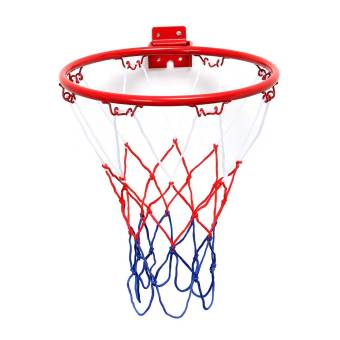 Wall Mounted Hanging Basketball Goal Hoop Rim Net Metal Sporting Goods Netting 32cm - Intl