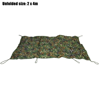 Harga 2M x 4M Woodland Military Hunting Camping Tent Car Cover Oxford Camouflage Net - intl