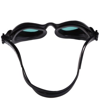 Silicon Conjoined Swimming Goggles Anti-fog PC Lens Diving Black - 5