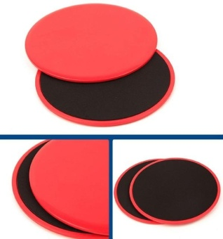Harga 1 Pair Fitness Gliders Gym Slider Workout Discs Core Ab Exercise Gym Training Slimming Abdominal Equipment Fitness Slide Discs - intl