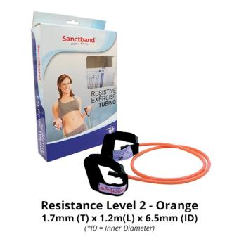Harga Sanctband Resistance Exercise Tubing with Handles (Resistance Level 2 - Orange)