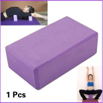 Harga Environmental yoga brick thick yoga pillow high density EVA fitness brick purple - intl