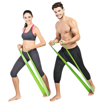 Exercise Resistance Bands - 4 Resistance Loop bands & Long Fitness Stretch Band Yoga Straps Home Gym Workout For Legs Arms Pull Up Strength Training, Physical Therapy Theraband, Pilates w bag - 3