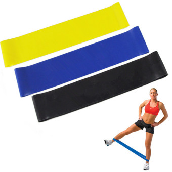 Exercise Resistance Bands - 4 Resistance Loop bands & Long Fitness Stretch Band Yoga Straps Home Gym Workout For Legs Arms Pull Up Strength Training, Physical Therapy Theraband, Pilates w bag - 5