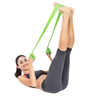 Exercise Resistance Bands - 4 Resistance Loop bands & Long Fitness Stretch Band Yoga Straps Home Gym Workout For Legs Arms Pull Up Strength Training, Physical Therapy Theraband, Pilates w bag - 4