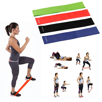 Exercise Resistance Bands - 4 Resistance Loop bands & Long Fitness Stretch Band Yoga Straps Home Gym Workout For Legs Arms Pull Up Strength Training, Physical Therapy Theraband, Pilates w bag - 2