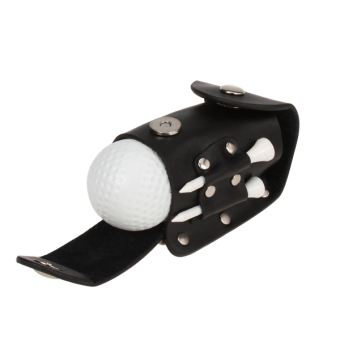 Harga Ball Tee Holder Golfers PRO Clip Leather Pouch Wood Tee 2 Ball 2 Tee