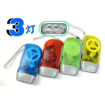 Harga 3 Dynamo Wind Up Flashlight Hand-pressing Crank NR No Charger Torch - Intl - intl