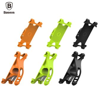 Baseus Universal Bicycle Holder Fluorescent light indicates handle For iPhone 6 6S 7 Plus Samsung Bicycle Phone Holder Smartphone Bicycle Mount Holder (Black) - intl - 5