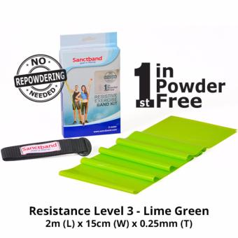 Harga Sanctband Resistance Exercise Band (Resistance Level 3 - Lime Green)