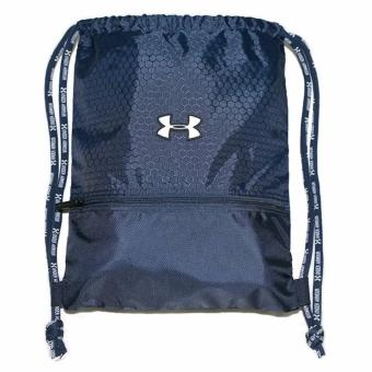 Harga UNDER ARMOUR Drawstring Bag Pack basketball swimming outdoor gyming hiking(Dark blue)