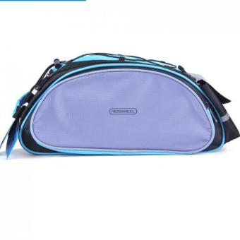 Harga Roswheel 13L Bike Rear Bag (Black and Blue with Purple)
