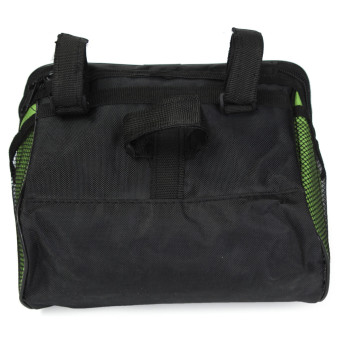 Bicycle Bike Front Basket Pannier Frame Tube Handlebar Bag Outdoor Cycling Pouch Green - 3