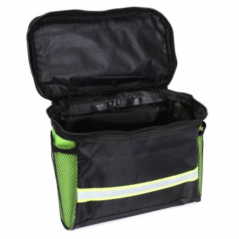 Bicycle Bike Front Basket Pannier Frame Tube Handlebar Bag Outdoor Cycling Pouch Green - 2