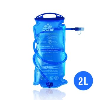 Harga AONIJIE Outdoor Cycling Running Foldable PEVA Water Bag Sport Hydration Bladder for Camping Hiking Climbing 2L - intl