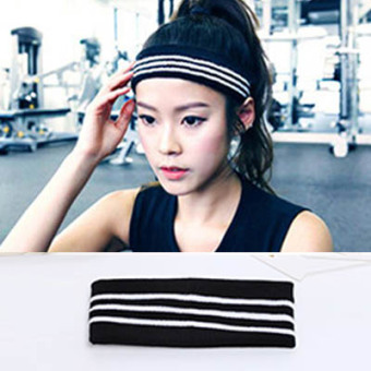 Harga Sweat knit wool sports yoga hair band hip-hop letters wearing for men and women through paragraph 4164