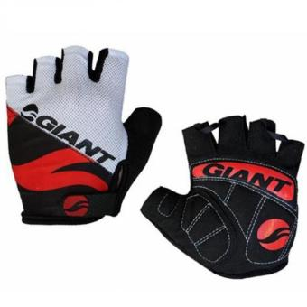 Harga EGC New Giant Half Finger Men Women Cycling Gloves Slip for mtb bike/bicycle guantes summer breathable ciclismo racing luvas sport-Red