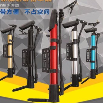 Car Cycling Tire Tyre Inflate Portable Bicycle Pump Foot Pedal Floor Pump Bike Air Inflator - intl