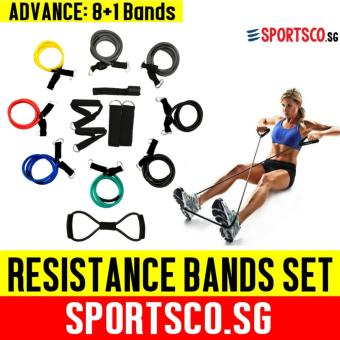 Harga SPORTSCO Resistance Bands Advance Set, 200lbs, 8 Bands + 1 Chest Expander (SG)