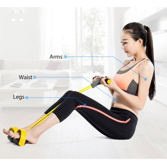 Harga Yoga Pull Rope Yoga Body Fitness Band Pedal Exerciser - intl