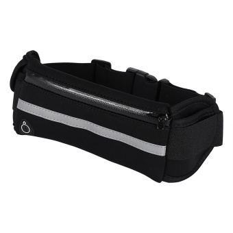 Harga Unisex Outdoor Running Jogging Traveling Cycling Waist Pack Belt Bag Pouch Waterproof (Black) - intl