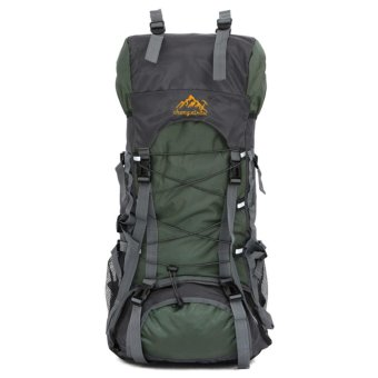 Harga 60L Camping Travel Waterproof Sport Outdoor Backpack(Amy Green) - intl