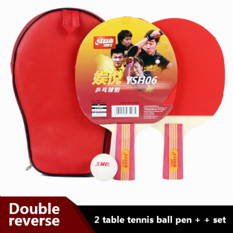 Harga Table tennis racket 2 authentic red pen
