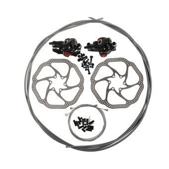 AVID BB7 MTB Mechanical Disc Brake Calipers + Jagwire Cables + HS1 160mm Rotors New