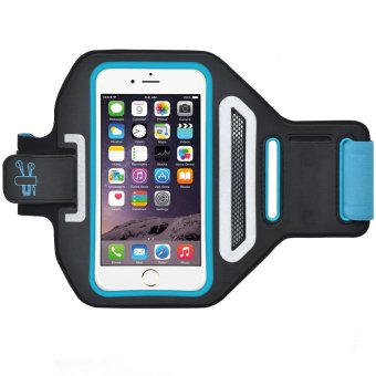 Harga Sports Armband + Running Belt for iPhone and Android Phone Blue