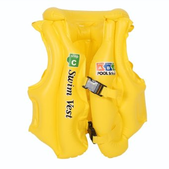Harga Kids Life Jacket Baby Swimwear Inflatable Swim Safety Float Vest Yellow S - intl