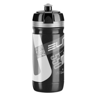 Harga Elite Corsa 550ml Bike Bicycle Cycling Sports Water Bottle (Black Silver)