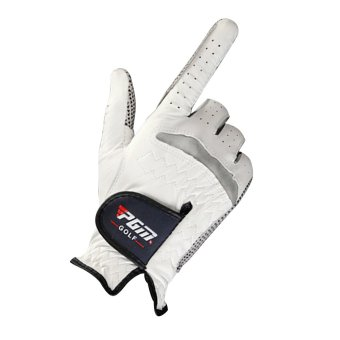 Anti-skid pure Sheepskin Golf Gloves for right hand (White+24yards) - 2