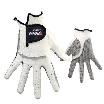 Anti-skid pure Sheepskin Golf Gloves for right hand (White+24yards) - 4